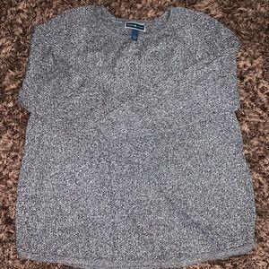 Karen Scott Navy/White Women's Sweater
